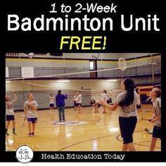 Badminton Unit Weeks of P. Lessons for Grade. -This unit is taken from my Full-Year P. Curriculum (It is the Best Selling P. Health And Physical Education, Education Today, Pe Lessons, Health Lessons, High School Health, Health Class, Pe Activities, Physical Activities, Elementary Pe