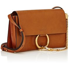 Chloé Women's Faye Small Shoulder Bag ($1,490) ❤ liked on Polyvore featuring bags, handbags, shoulder bags, bolsas, shoulder handbags, strap purse, chloe handbags, brown handbags and shoulder bag purse