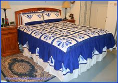 My Dresden Plate quilt and matching pillowcases, finished at last. Dresden Plate, My Sewing Room, Pillowcases, It Is Finished, Quilts, Bed, Furniture, Home Decor, Scrappy Quilts