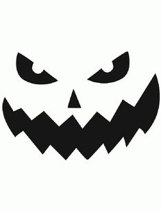 Free Printable easy funny jack o lantern face stencils patterns Pumpkin Face Carving, Awesome Pumpkin Carvings, Scary Pumpkin Faces, Scary Halloween Pumpkins, Scary Faces, Halloween 2017, Funny Halloween, Halloween Ideas, Halloween Templates