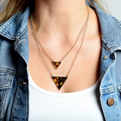 Tortoise Triangles Necklace