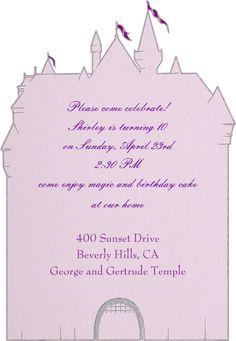 """""""Princess Castle"""" Announcement, Paperless Post"""