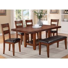 Furniture Of America Roman Industrial Brown Cherry Live Edge Inch - 68 inch dining table
