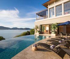 Stunning Properties for a Warm Winter Vacation:   Villa Fah Sai is a striking and elegant award-winning luxury home set on the island of Phuket, Thailand.