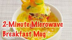 How to make quick and easy 2-minute microwave breakfast mug #microwaverecipes #mugrecipes #breakfastrecipes