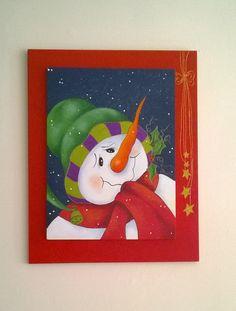 Cuadro decorativo pap noel navidad con estilo pinterest for Cuadros de navidad