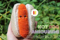 Free Crochet Hot Dog Dog Toy Pattern