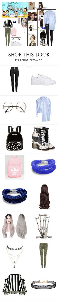 """""""Kendall and Kaeligh going on hello counsellor with taeyang (Kendall bf and Big Bang member) Lee soo hyuk (Kaeligh secret boyfriend) and others"""" by keeliewatsonoffical ❤ liked on Polyvore featuring H&M, adidas, Vetements, Betsey Johnson, Dolce&Gabbana, Max Factor, Hot Topic, Charlotte Russe, True Religion and Milly"""