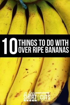 frozen banana recipes Next time you don't want to waste your bananas, try one of these 10 Things to do with Over Ripe Bananas. They are all amazing. You can't go wrong! Recipes For Old Bananas, Ripe Banana Recipes Healthy, Frozen Banana Recipes, Banana Bread Recipes, Overripe Banana Recipes, Recipe With Ripe Bananas, Leftover Banana Recipes, Desserts With Bananas, Healthy Foods