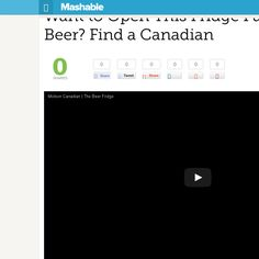 http://mashable.com/2013/06/26/molson-beer-ad/ Want to Open This Fridge Full of Free Beer? Find a Canadian | #Indiegogo #fundraising http://igg.me/at/tn5/