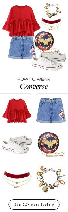 """wonder women set"" by theminimalist01 on Polyvore featuring Paul & Joe Sister, Converse and Charlotte Russe"
