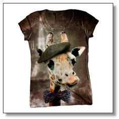 Ooh la la. French Giraffe T-shirt