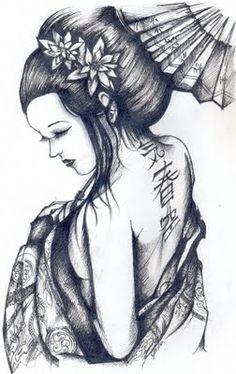 tatuagens gueixa - Pesquisa Google