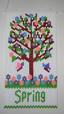 Handmade Spring Tree Beaded Banner with Nylon Cord Hanger