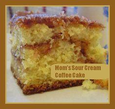 Mom's Sour Cream Coffee Cake Recipe | momstown National