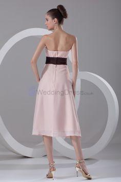 Green Tea Length Formal Dress | ... Strapless Tea Length Column Cocktail Dress - UK Wedding Dresses Shop
