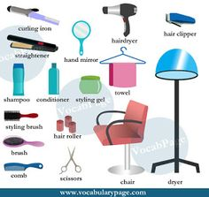 VocabularyPage: Beauty salon vocabulary