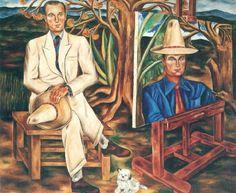 Retrato del Turista (Henri de Châtillon) - Maria Izquierdo. c.1940  Mexican 1902-1955 Oil on canvas