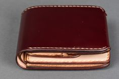 Iron Heart Small Shell Cordovan Wallet Oxblood -coin pouch