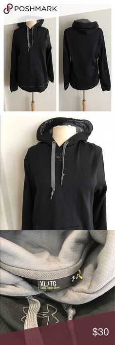 "🆕Under Armour men's hoodie Under Armour men's hoodie. Size XL. Measures 28"" long with a 40"" bust. Large front pocket. Slightly stretchy. Very good used condition!  🚫NO TRADES 💲Reasonable offers accepted 💰Ask about bundle discounts Under Armour Jackets & Coats Performance Jackets"