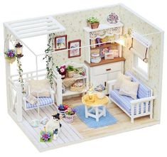 Gattino diario Dollhouse Kit fai da te di craftsuppliesworld