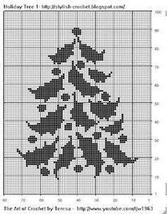 Filet Crochet Holiday Tree - Chart 1