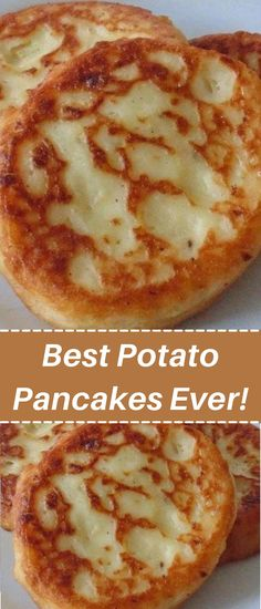 Best Potato Pancakes Ever! Potato Side Dishes, Veggie Dishes, Side Dishes Easy, Vegetable Recipes, Donut Recipes, Brunch Recipes, Breakfast Recipes, Cooking Recipes, Skillet Recipes