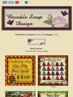 Ad:50% Off Sale,Buy My Store Deal,Snowflake Tiles & Styles Freebie,& More from Brenda's Scrap Design!https://madmimi.com/s/2dd4b4
