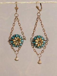 Flower Basket Earrings Beadwork Project - Projects - Beading | InterweaveStore.com