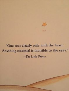 So true from The Little Prince
