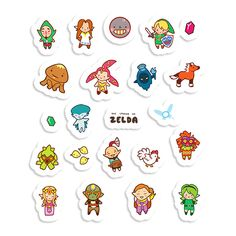 Small and sweet individual stickers of characters from the Nintendo 64 games Ocarina of Time and Majoras Mask, which have been illustrated in a kawaii chibi style! Perfect for decorating notebooks, journals, or just for sticking around your room.  Stickers are made of waterproof vinyl and are tough and long-lasting.