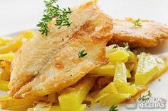 Filete de peixe grelhado