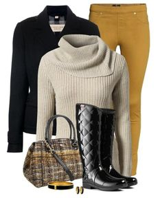 Winter & Fall outfit with rain boots