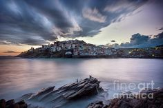 A Peaceful Evening by Elias Pentikis Places To Travel, Fine Art America, Greece, Wall Art, City, Water, Photographs, Poster Prints, Shots