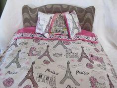 Cute 5 Piece American Girl 18 Doll Bedding Paris by CuddleBugBaby, $30.00 #v2team