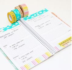 If you like to keep it simple, consider decorating with washi tape! Thanks pearltheplanner for the idea!