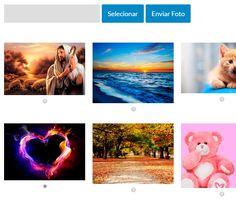 Enviar uma foto ou escolher uma foto do site