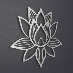 Brushed Lotus Flower Metal Wall Art Home Decor Silver Pinterest