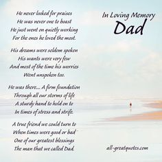 The Strongest Man I ever knew, My Dad