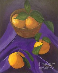 Patricia Cleasby: Artist Website Oranges on Purple