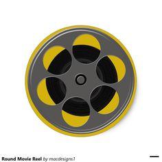 Round Movie Reel Classic Round Sticker