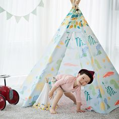 This is a 'Jurassic Park' model of Looka Tent. Looka Tent is first mover in play tent market. #Looka Tent #루카텐트 #Indian Tent #Play tent