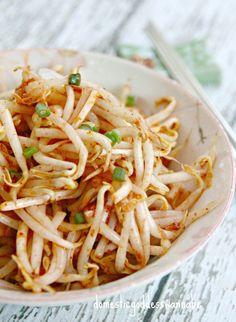 Sukjunamul-Muchim (숙주나물무침) | Korean Spicy Sesame Bean Sprouts
