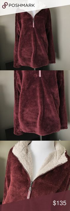 True Grit Double Plush Pullover - Vintage Wine Incredibly soft Plush Pullover by True Grit. 1/4 zip. Color is Vintage Wine. New with tags! Mens size XS, could fit up to a women's medium. Pictured on a women's size small mannequin. MSRP: $155. TRUE GRIT Shirts Sweatshirts & Hoodies