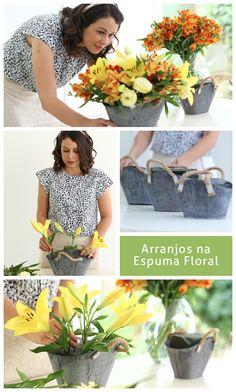 Produção Bella Fiore Como Fazer Arranjo na Espuma Floral | Bella Fiore Production How to do arrangements in floral foam