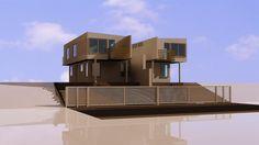 Imagen 3d render para venta conjunto de viviendas por parte de inmobiliaria mail: consultores@arqydis.cl