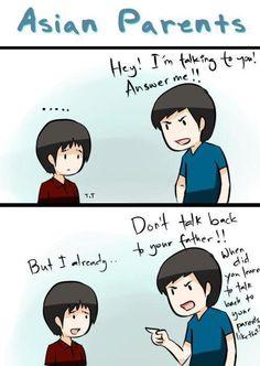 Arguing with Asian parents… Funny Asian Jokes, Asian Humor, Funny Jokes To Tell, Very Funny Jokes, Really Funny Memes, Stupid Funny Memes, Funny Quotes, Hilarious, Qoutes