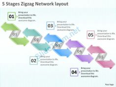 1013 Business Ppt diagram 5 Stages Zigzag Network layout Powerpoint Template