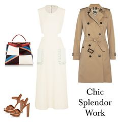 """Chic splendor"" by chic-splendor on Polyvore featuring Fendi, Prada and Burberry"