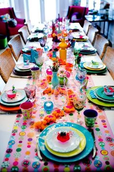 Not the pink, but I love the mixed Fiesta ware :)